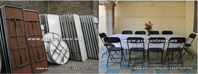 Donde rentar mesas y sillas para fiestas y eventos en el for Mesas redondas plegables para eventos